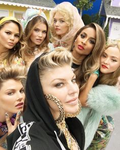 Is Fergie rocking a lady pompadour in her Milf$ video?