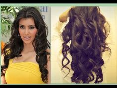 ★ KIM KARDASHIAN HAIR TUTORIAL | HOW TO CURL LONG HAIR | BIG, SEXY, SOFT...