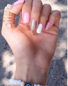 Light pink nails