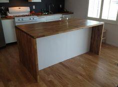 Malm Kitchen Island. Materials: MALM, NUMERAR, AKURUM  Description: My wife and I recently bought our first house. Yay! As you can imagine, living in L.A. means housing is very