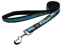 Rogz Fancy Dress Extra Large 1-Inch Armed Response 6-ft Long Fixed Dog Lead, Turquoise Chrome Design *** You can get more details by clicking on the image.