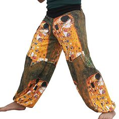 RaanPahMuang Brand Full Patch Billowy Pants Gustav Klimt The Kiss Large -- Want additional info? Click on the image.(This is an Amazon affiliate link and I receive a commission for the sales)