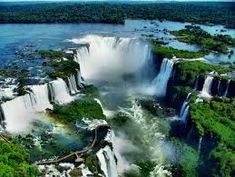 Foz do Iguaçu is the Brazilian city of the border of Iguaçu Falls. The city is the largest in the state of Paraná Beautiful Places In The World, Places Around The World, Around The Worlds, Iguazu National Park, National Parks, Thomas Jefferson, Puerto Iguazu, Visit Argentina, New York Tours