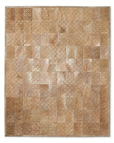 Pattern inspiration: Restoration Hardware Etched Scallop Cowhide Rug (Sand. Overlapping scallops.)