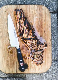 How to Grill Pork Tenderloin by theclevercarrot: The 7-6-5 method. #Pork_Tenderloin