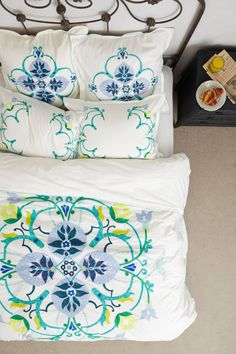Kamilia Embroidered Duvet - anthropologie.com
