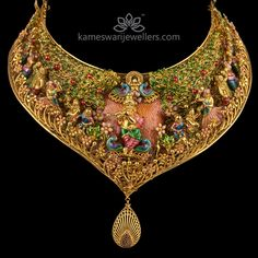 Sterling Silver T Necklace Refferal: 9994781721 Indian Wedding Jewelry, Indian Jewelry, Gold Jewellery Design, Antique Jewellery, Antique Necklace, Swarovski Crystal Necklace, Necklace Sizes, Necklace Online, Necklace Designs