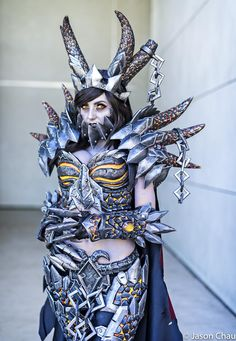 [Sexy Cosplay] Jessica Nigri as Deathwing from World of Warcraft designed by Zach Fischer Illustration at BlizzCon