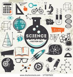 Science icons set by best works, via Shutterstock