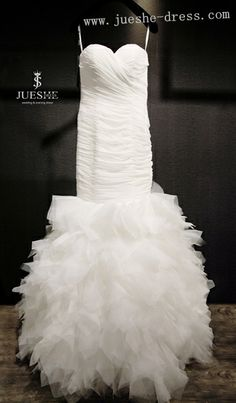 soft chiffon wedding dress with fairy ruffles, on sale!!!