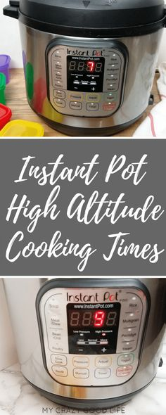 Did you know that elevation can affect Instant Pot cooking times? Here are some Instant Pot High Altitude Cooking time adjustments for you to save!