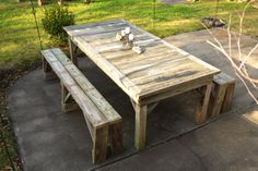 Mossy's Farm Table. Such a magical addition to any backyard.   mossysmostwanted.com