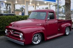 My grandfather had something similar to this - his was green. I don't know what year his was. 1955 Ford F100 Pickup