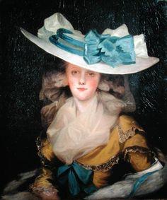 John Hoppner: Portrait of Mary Benwell Kunstdruck 18th Century Clothing, 18th Century Fashion, Female Portrait, Female Art, Fashion History, Fashion Art, Jean Antoine Watteau, Renaissance, The Artist
