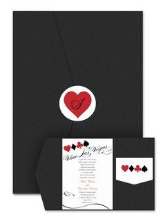 Viva Las Vegas Pocket - Wedding Invitations by Invitation Consultants. (Item # IC-RLP-SRSPK-16 )