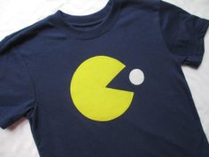 Pac Man TShirt or Onesie with One Dot by ShopMelissa on Etsy, $16.00