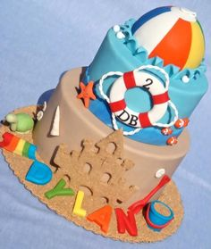 This would be great for a pool/beach party cake. :)