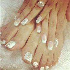 pedicures | Wedding - Manicures And Pedicures - Bride's Bridal Look