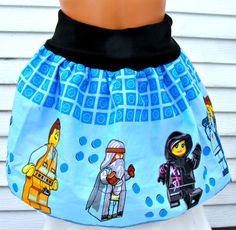 Awesome Skirt made with Licensed The LEGO Movie fabric