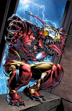 Browse the Marvel Comics issue Invincible Iron Man (Venom Variant). Learn where to read it, and check out the comic's cover art, variants, writers, & more! Comic Movies, Comic Book Characters, Marvel Characters, Comic Books Art, Comic Art, Venom Comics, Marvel Comics Art, Marvel Villains, Marvel Heroes