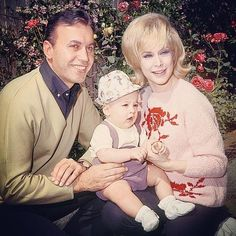 Barbara Eden, Michael Ansara, and son, Matthew.
