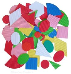 373 best rainbow creations childrens art craft supplies images on 50 large paper shapes made from corrugated paper for collages children art work cardmaking and learning about geometric shapes in the classroom publicscrutiny Image collections