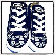 e5bc26ba0a51 Toddler size 8 soccer bling Converse now on sale. Check them out and others  in the sale section of Tricked Kicks!