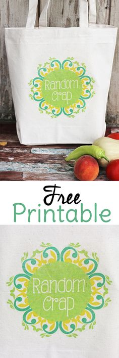 Have Random Crap? Make a DIY Tote Bag to haul it all! This free printable and a tote bag are pretty much all you need.