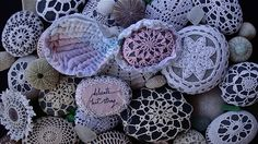 Cover stones in doilies?