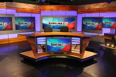 We've added photos from WCMH-TV, the NBC affiliate in Columbus, Ohio. This set is one of two matching ones that WCMH-TV installed in The other is a Tv Set Design, Tv Sets, Future Goals, New Set, Arcade Games, Ohio, Studio Design, Communion, Desks