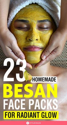 23 Homemade Besan Face Packs For All Skin Types Gram flour is also called as besan It is known to fight numerous skin problems including blemishes pimples dark skin and dull and lifeless skin Keep reading to know Homemade Face Pack, Homemade Skin Care, Face Scrub Homemade, Homemade Facials, Homemade Beauty, Beauty Tips For Glowing Skin, Beauty Skin, Face Beauty, Beauty Makeup