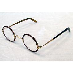 a4eb87765251 Windsor Style Harold Lloyd Horn Rim Round 1912 Antique Eyeglasses Tortoise