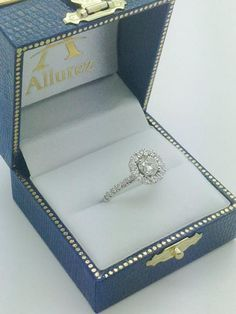 French Pave Halo Diamond Bridal Ring Set 14k White Gold (1.20ct) - Allurez.com