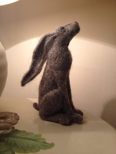 Handsome needle felt hare approximately 15cm tall