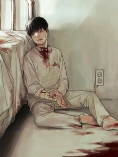 Abused bloody anime boy Guro
