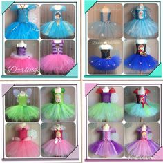 Disney Princess Tutu Dress.  Princesses Dress. Frozen Tutu Dress. Jasmine Tutu Dress.  Doc McStuffins Tutu Dress.  Tinker Bell Tutu Dress, Sleeping Beauty Tutu Dress, Aurora Tutu Dress, Rapunzel Tutu Dress, Little Mermaid Tutu Dress, Ariel Tutu Dress, Elsa Tutu Dress, Anna Tutu Dress.  Beautiful & lovingly handmade.   Price varies on size, starting from £25.  Please message us for more info.   Find us on Facebook www.facebook.com/DiddyDarlings1 or our website www.diddydarlings.co.uk