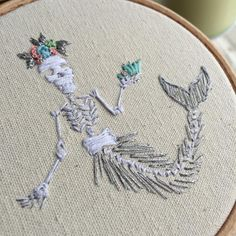Merskeleton embroidery
