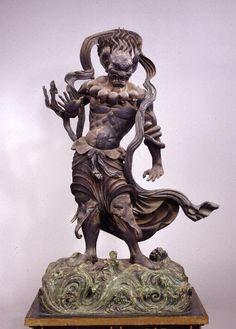 木造深沙大将立像...快慶 作(金剛峯寺) Jinjadaishō by Kaikei [ Kongōbu-ji ] Around 1200 Japanese Buddhism, Asian Sculptures, Japanese Mythology, Buddhist Art, Japan Art, Sacred Art, Sculpture Art, Hindus, Wolverines