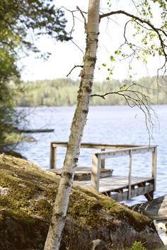 our cottage by the lake (*wish i could call this mine! Lake Cabins, Cabins And Cottages, Lakeside Living, Lakeside View, Lake Cottage, Lakeside Cottage, Peaceful Places, Porches, Cabins In The Woods