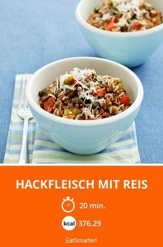 Hackfleisch mit Reis - smarter - Kalorien: 376.29 kcal - Zeit: 20 Min. | eatsmarter.de Eat Smarter, Rind, 20 Min, Clean Eating, Breakfast, Popular Recipes, Fast Recipes, Healthy Recipes, Essen
