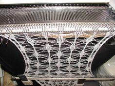 Crazy, lacy knit.