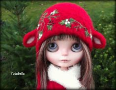 OOAK Custom Lamb/Sheep Helmet/Hat for Blythe Dolls by~ Tutubella