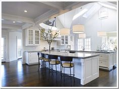 open double island kitchens | white_kitchen_kathleen_Hay