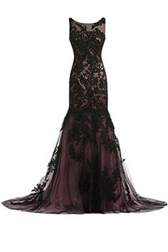 Sunvary Vintage Black Lace Applique Mermaid Mother of the Bride Dresses Long US Size 2- Black Sunvary http://www.amazon.com/dp/B00M1GM0K4/ref=cm_sw_r_pi_dp_.tvhub0HZ45AJ