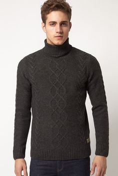 100 Best Mens Turtlenecks Images Hand Knitting Knit Jacket