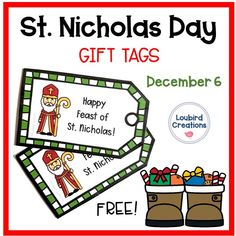 Download these FREE gift tags to attach to a treat for your students on the Feast of St. Nicholas! Easy to attach to candy canes with a ribbon to leave as a surprise in children's shoes on December 6. #stnicholas #saintnicholas #stnickday #catholicteacher #catholic #saints #catholicclassroom #saintnicholasday Old Fashion Christmas Tree, Retro Christmas, Holiday Activities, Craft Activities For Kids, St Nicholas Day, Happy Feast, Vintage Birthday Cards, Old Fashioned Christmas, Holidays With Kids