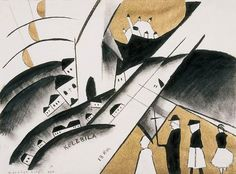 Bernáth, Aurél (1895-1982) | Graphik ~ 2. Villages (1922) Pencil Drawings, Abstract Art, Digital Art, Watercolor, Graphic Design, Illustration, Painting, Drawings In Pencil, Pen And Wash