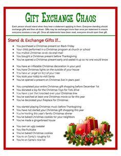 Christmas Gift Swap, Christmas Gift Exchange Game, Holiday Gift Exchange Party Game, Exchange Gifts Game, Gift Swap Game - Printables 4 Less