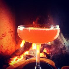 Prince of Arrows | Medieval Love Potion, Campadello Sparkling Wine, Bitters. Come snuggle by our fires + let Cupid intoxicate you with love + a delicious libation this weekend at @fishgamehudson (at Fish & Game)
