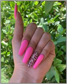 In seek out some nail designs and some ideas for your nails? Here is our set of must-try coffin acrylic nails for fashionable women. Aycrlic Nails, Neon Nails, Swag Nails, Coffin Nails, Grunge Nails, Bright Summer Acrylic Nails, Pink Acrylic Nails, Pink Cheetah Nails, Cheetah Nail Designs